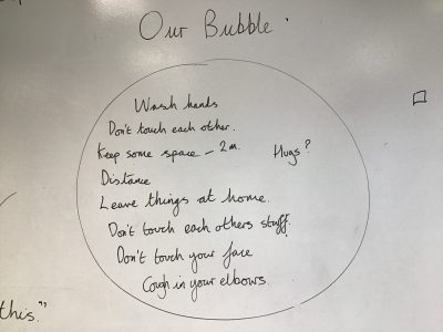 Our first day in our bubble!